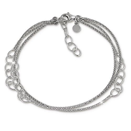 SilberDream Armschmuck 18-21cm Silber Armband Ringe Damen Silber SDA1178J