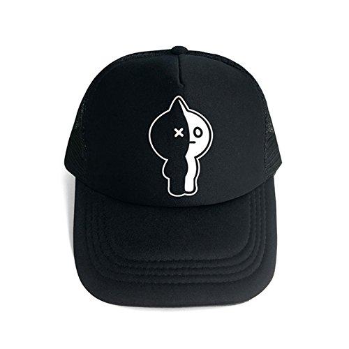 (Yovvin BTS Basecap, Kpop Bangtan Jungen Hip-Hop Style Einstellbar Baseball Cap Mütze Hat Kappe Hüte Baseballkappen für Sport & Outdoor (Van-Schwarz))