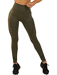 9b7a6d85fb7f3e FITTOO Women High Waist Hollow Out Lace Patchwork Slim Yoga Pants Fitness Gym  Workout Leggings