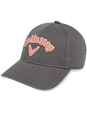 Callaway 5216097, Gorra de Béisbol para Mujer, Multicolor (Gris / Naranja), U