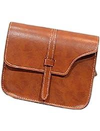 FEITONG Muchacha de las mujeres del bolso de hombro de cuero de imitación del bolso de la taleguilla de Crossbody de asas (J)