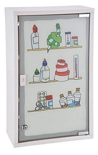 #Medizinschrank Arzneischrank Erste Hilfe Verbandsschrank Wandschrank Medikamentenschrank Weiß Tip-On 30x50x15cm#