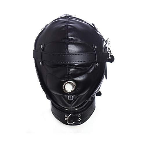 (HONGSHENG Adult Spielzeug Blindfold Mundstück Maske Maske Strafe Bondage Spiel Flirting,Black)