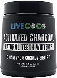 Livecoco carbone attivo per lo sbiancamento dei denti, sbiancamento denti utilizzando gusci di cocco, RAW &