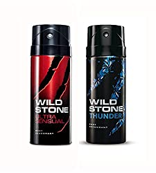 Wild Stone Ultra Sensual And Thunder Deodorant For Men (150 ML)