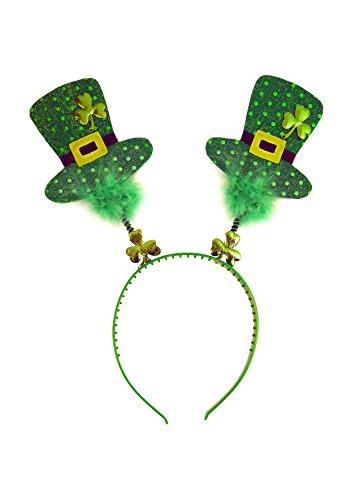 sh Shamrock Wiggly Mini Top Hat Headband (Irish Dress Kostüme)