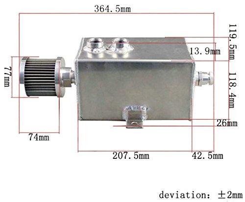 ALLOYWORKS Aluminium Öl Catch Tank kann 3L AN10 Inlets Belüftungsfilter Ablauf