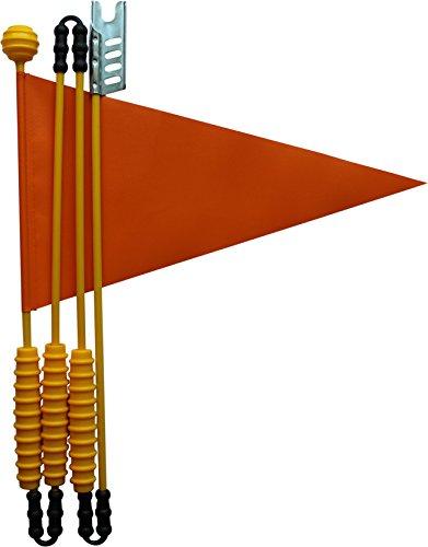 160 cm Fahrradfahne: Langlebig und Stabil aus Heavy Duty LKW Plane von Karl Drais | Fahrradwimpel zB für Puky Kinderfahrrad Sicherheitswimpel (Orange)