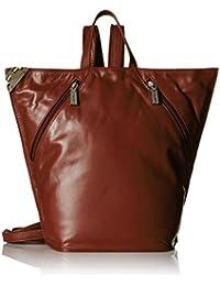 af8750f77646 Visconti Visconti Ladies Triangular Leather Backpack Rucksack Medium