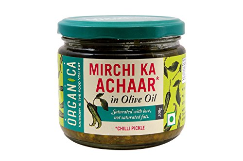 Organica Olive Oil Chilli Pickle, 300g  available at amazon for Rs.98