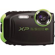 "Fujifilm FinePix XP80 - Cámara digital compacta de 16.4 MP (sensor CMOS, pantalla de 2.7"", zoom óptico 5x, gran angular 28 mm, ISO 6400, estabilizador de imagen), color negro"