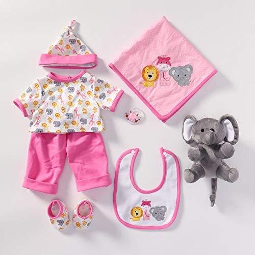 Seedollia Kleidung Mädchen für 50-55 cm Realistisch Reborn Babypuppe Rosa Elefant