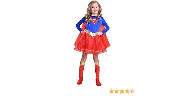 Costume da Bambina Classica Warner Bros SuperGirl per Bambini et/à: 4-6 Anni