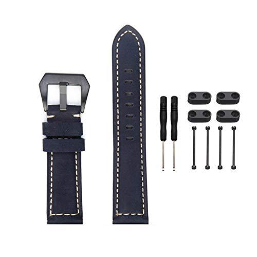Feinny Smart Bracelet Uhren Armband Lederband/Mode Neue Leder-Material einstellbar Smart Sportuhr Ersatzband + Armband Ersatz-Kit/Für Suunto Core-Serie Produkte (Einschließlich Werkzeuge)