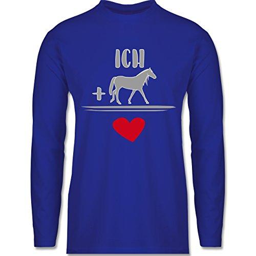 Shirtracer Pferde - Pferde-Liebe - Herren Langarmshirt Royalblau