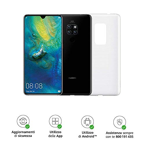 Foto Huawei Mate 20 (Black) più Cover Originale, Telefono con 128 GB, Display...