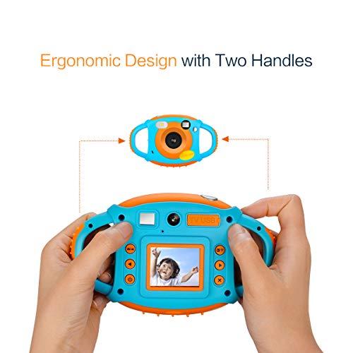 9ab11acb55 Videocamera per Bambini Fotocamera Digitale per Bambini Mini telecamera  WiFi per Bambini 5MP 1080P Ricaricabile con Schermo a Colori 1,77 HD.  Visualizza le ...