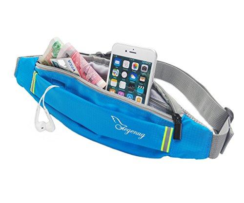 ONEGenug Riñonera Running Correa Ajustable y Tiras Reflectantes / correa corriente / bolso impermeable de la correa para correr, ir de excursión, ciclo, viajando etc para el iPhone 7 más, GalaxyS5 S6
