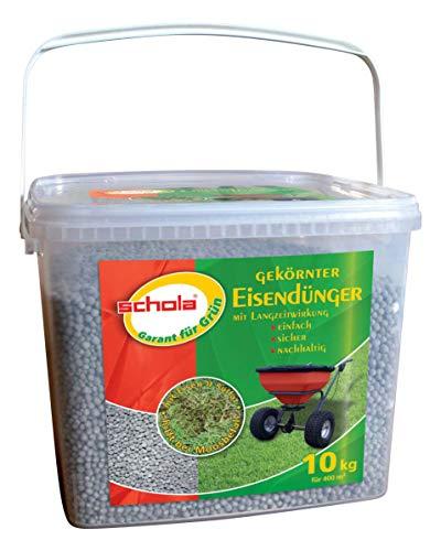 Humusziegel Schola - Eisendünger gekörnt - Rasendünger gegen Moos - Langzeitwirkung - 10 kg