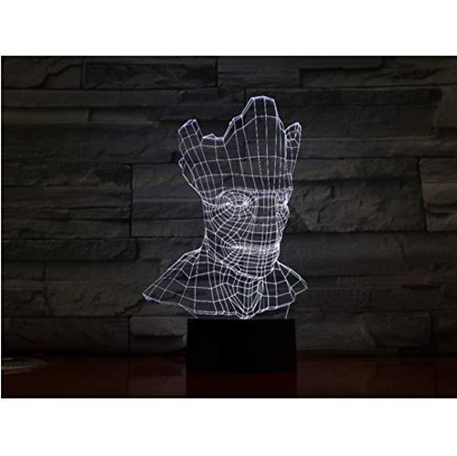 ptische Täuschung 7 bunte Tischlampe LED Nachtlicht Acryl Nachtlicht Handwerk ()