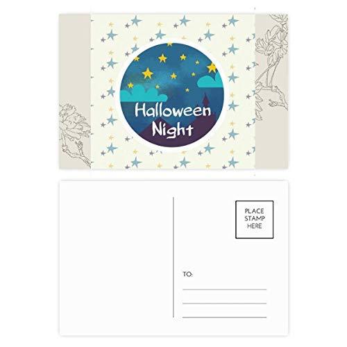 DIYthinker Der Himmel von Halloween-Nacht-Blumen-Postkarte Set dankt Karte Mailing Side 20pcs 5.7 Zoll x 3.8 Zoll Mehrfarbig
