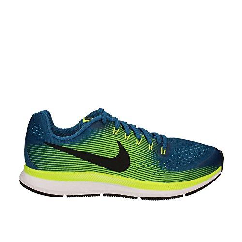 : Zapatilla Nike Zoom Pegasus 34 (gs) Azul-branco-amarelada