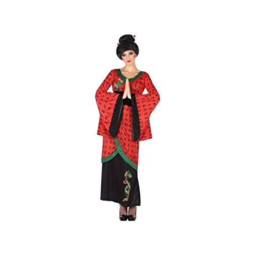 (ATOSA 53868 Chinesin Kostüm für die Dame Costume Chinese Woman XL, Rot/Schwarz)