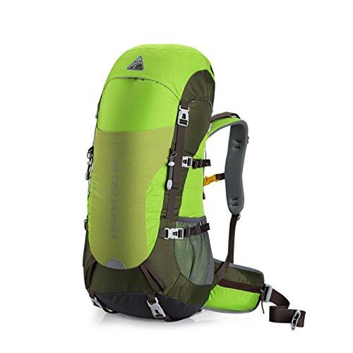 Zaini di grande capacità/Zaino outdoor professionale/Uomini escursionismo zaino/Zaino Campeggio-verde 50L verde