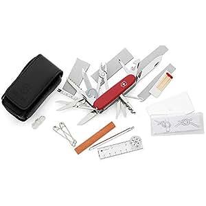 Victorinox SOS Set Coltellino Multiuso Svizzero con Fodero e Accessori, Rosso