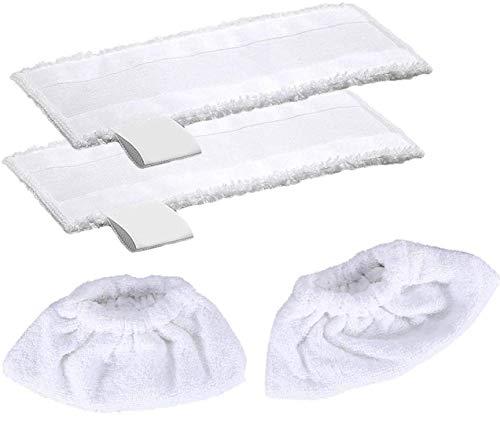 Lot de 2 Pièces Bonnettes Microfibre Lingettes Remplacement &2 Bonnettes Chiffons Microfibre pour...