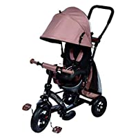 Ricco Kids Easy Steer Tricycle Buggy Stroller with Oxford Cloth Pedal and Reversible Seat XG6019