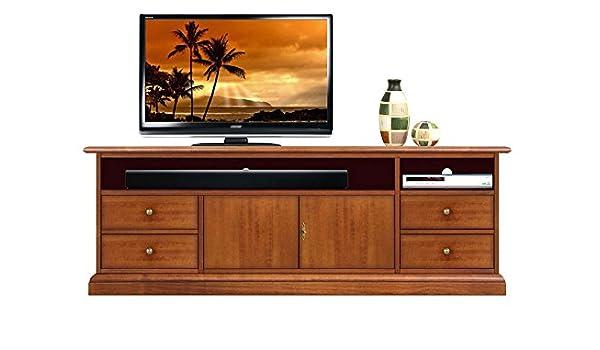 tv schrank mit fach fur soundbars mobel tv 160 cm breit italienischer tv schrank mit turen und schubladen fur wohnzimmer klassisch elegant und praktisch