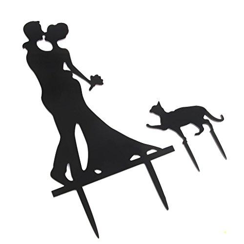 maltonyo17-Sweet-matrimonio-fidanzamento-decorazione-accessori-per-feste-sposi-che-si-baciano-Gatto-Topper-Per-Torte