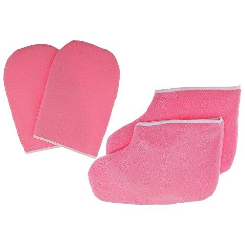 Sharplace Rosa Protezione Paraffina Paraffina Mano Maschera Termale Maschera Idratante Guanti Mitts Stivaletti