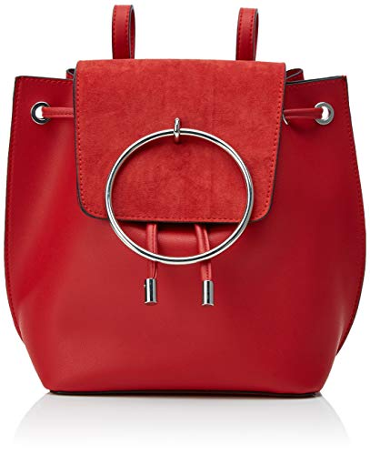 New Look Damen Metal Ring Rucksack, Rot (Bright Red)