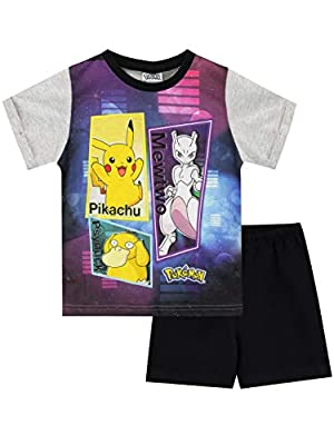 Pokèmon Pijamas de Manga Corta para niños Pikachu, Mewtwo a Psyduck