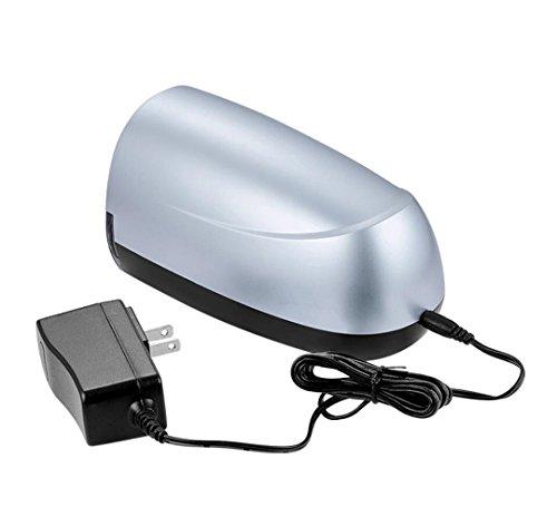 LQUIDE Elektrische Anspitzer Batteriebetriebene Automatische Bleistift Cutter Für Büro, Schule, Künstler Erwachsene Kinder (Silber) (Automatische Messer Release)