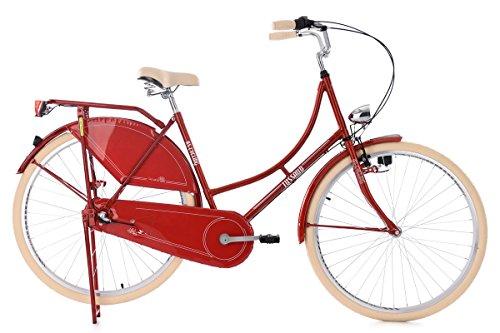 KS Cycling Damen Hollandrad Tussaud 3-Gänge RH 53 cm Fahrrad, rot, 28