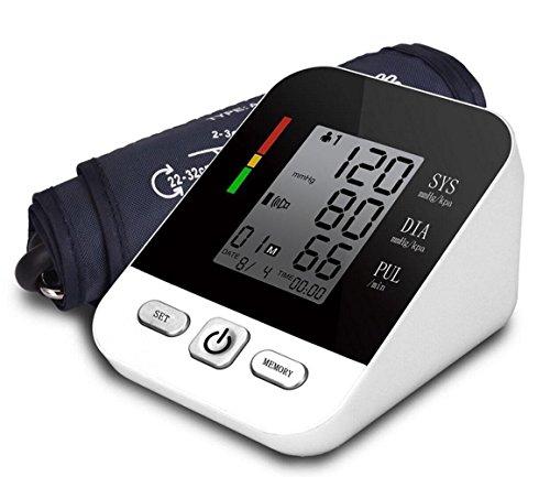 LIU Monitor Elettronico Della Pressione Sanguigna LCD Digitale Certificato CE Misurazione Della Pressione Sanguigna - Data Memoria Memorie Full- Ricaricabile Inglese