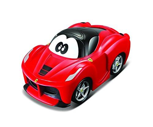 BB Junior 16-85301Ferrari de U Turn Laferrari, Eco-Line, de Pull Back Niños Pequeños de vehículos, Color Rojo