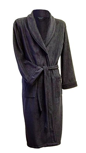 Lloyd Attree & Smith - Robe de Chambre en Maille Polaire - Homme - Marine (L)