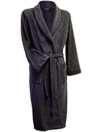 Men's Warm Microfibre Fleece Dressing Gown - Navy