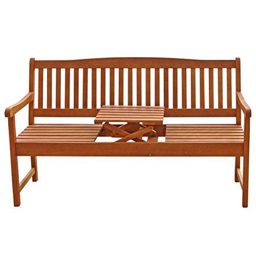 """Indoba Gartenbank, 3-Sitzer mit Klapptisch """"Sun Flair"""" – Serie, braun, 150 x 61 x 88 cm, IND-70032-GB3TI - 2"""
