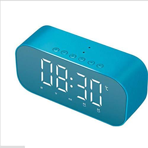 Bluetooth Wecker Freie Hände Telefon Monitor Stunde Echtzeit Temperatur Mode Multifunktional Wecker 3 Dateien Farbe 3 Arten Spielen Modus,Blue