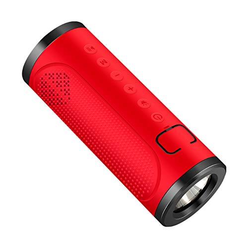 Altsommer Bluetooth Lautsprecher USB LED Box mit Freisprechfunktion, Tragbarer kabellos Speaker Boombox für Hervorragender Klang & Bass - Klick Schreibtisch