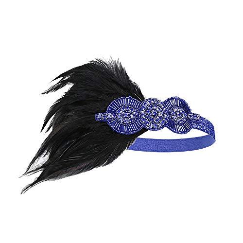 MCYs 1920er Feder Stirnband Kopfbedeckung Haarband Flapper Stirnband -