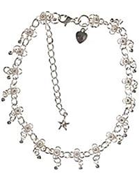 Córdoba Jewels | Tobillera en plata de ley 925. Diseño Cascabel