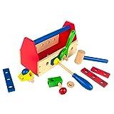 ColorBaby - Caja de herramientas de madera - 18 piezas (42751)