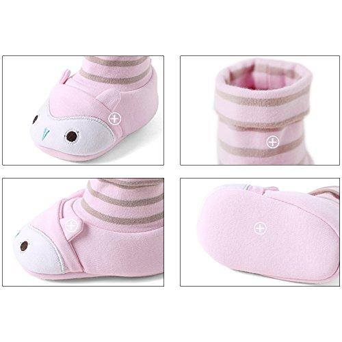 Eastlion Baby erste Wanderschuhe Winter Warm Girls Boy Soft Sole Indoor Schuhe Rosa