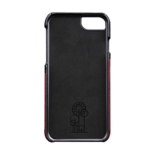 Phone case & Hülle Für iPhone 6 / 6s, echtes Rindslederfarben-zusammenpassender rückseitiger Abdeckungs-Fall mit Einbauschlitz ( Color : Brown ) Wind red